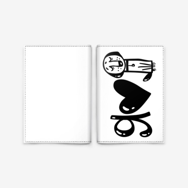 Обложка для паспорта «я люблю животных»