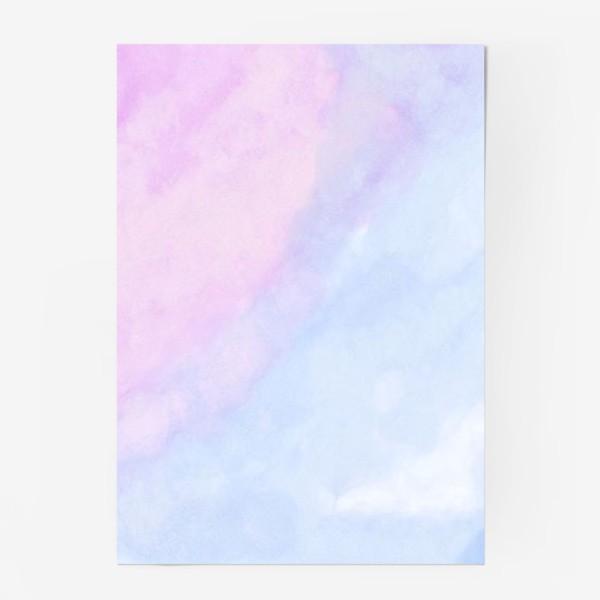 Постер «Акварельные облака»