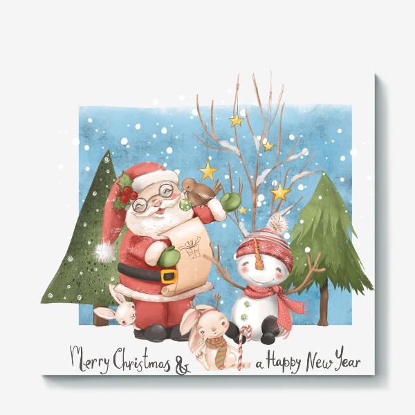 Холст «Новый год и Рождество»