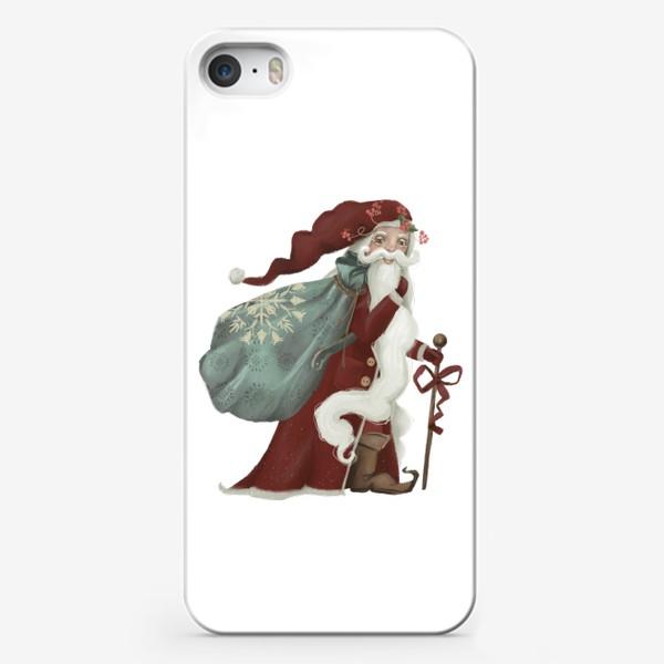 Чехол iPhone «Новый год и Рождество, дед Мороз, Санта»