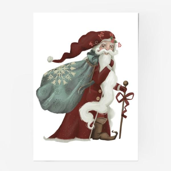 Постер «Новый год и Рождество, дед Мороз, Санта»