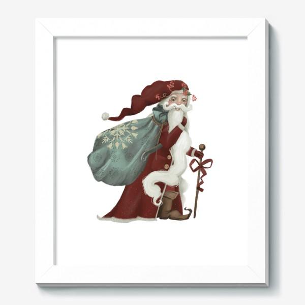Картина «Новый год и Рождество, дед Мороз, Санта»