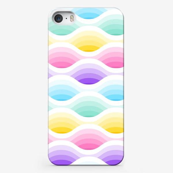 Чехол iPhone «Радужно-единороговые волны»