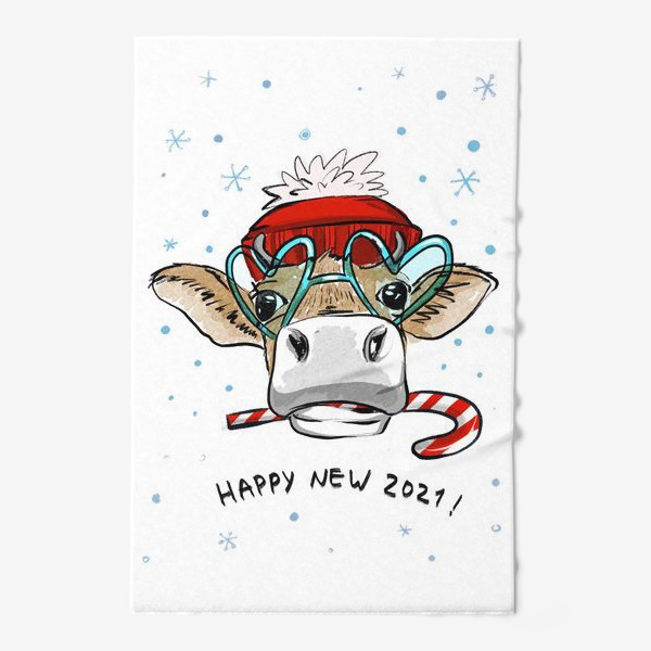 Полотенце «Happy new 2021 !»