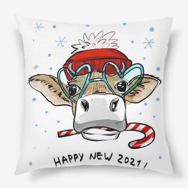 Подушка «Happy new 2021 !»