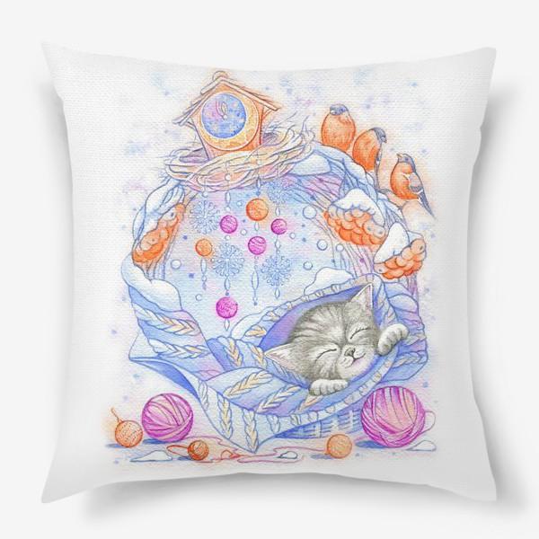 Подушка «Колыбельная для котенка»