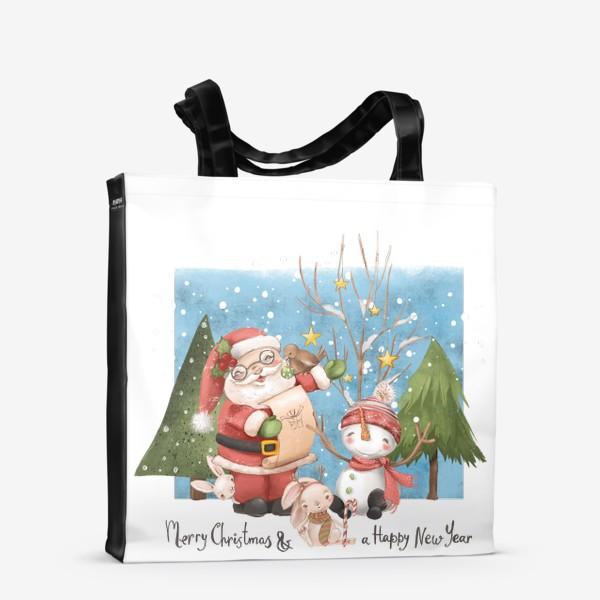 Сумка-шоппер «Новый год и Рождество»
