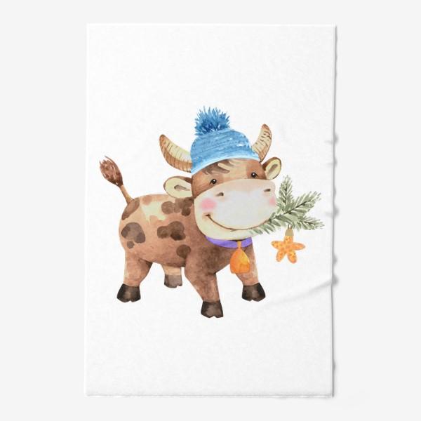 Полотенце «милый бык восточный символ нового года»