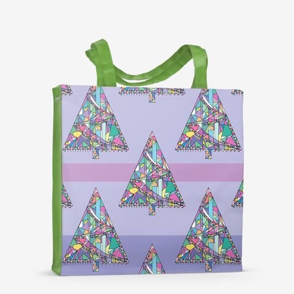 Сумка-шоппер «Новогодние елки»