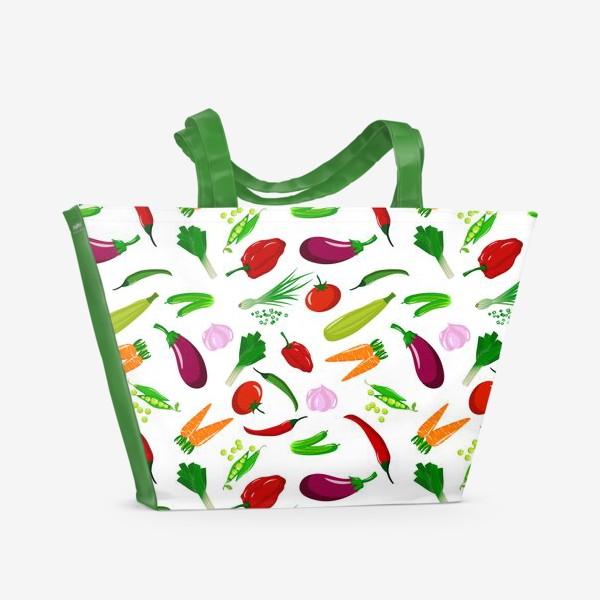 Пляжная сумка «Овощная феерея»