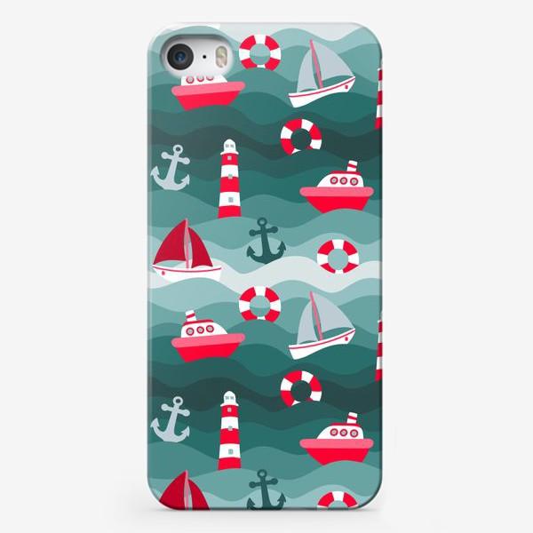 Чехол iPhone «Морской детский принт»
