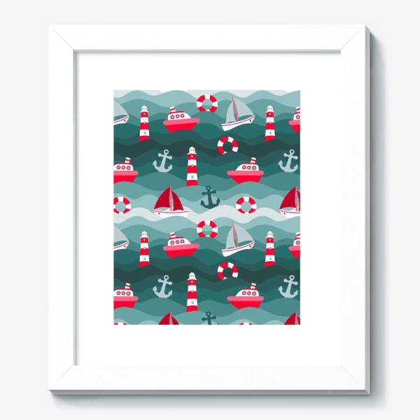 Картина «Морской детский принт»