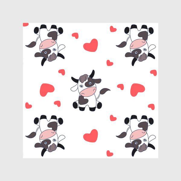 Шторы «Корова паттерн»