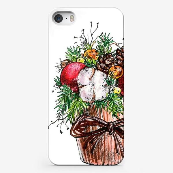 Чехол iPhone «Новогодняя композиция»