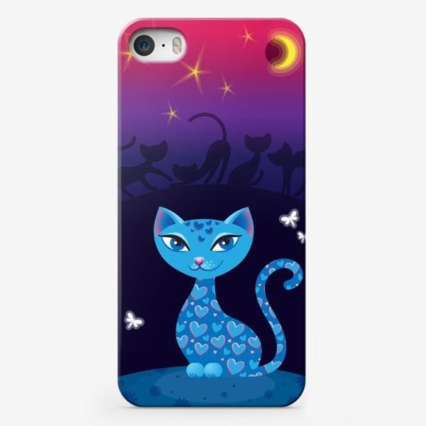 Чехол iPhone «Кошка, которая гуляет сама по себе. Ночь»