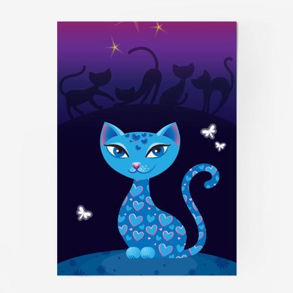 Постер «Кошка, которая гуляет сама по себе. Ночь»