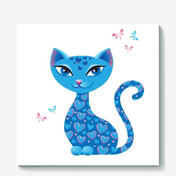 Холст «Кошка, которая гуляет сама по себе. День»