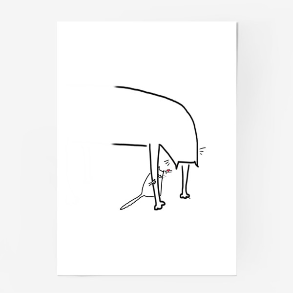 Постер «Котенок за лапкой мамы. Mom. День матери »