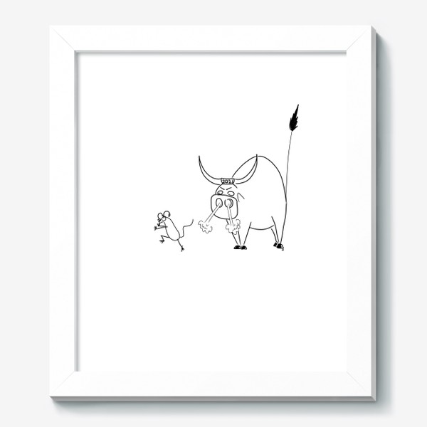 Картина «Год быка 2021! Новый год»