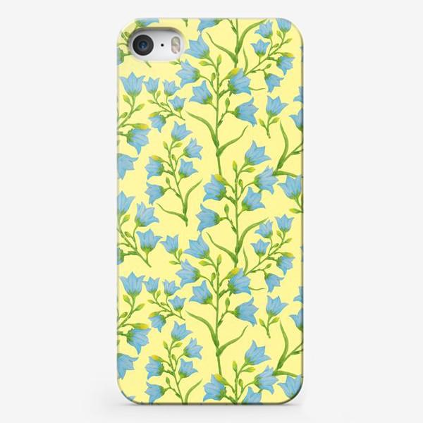 Чехол iPhone «Колокольчики на желтом фоне»