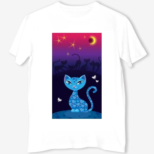 Футболка «Кошка, которая гуляет сама по себе. Ночь»