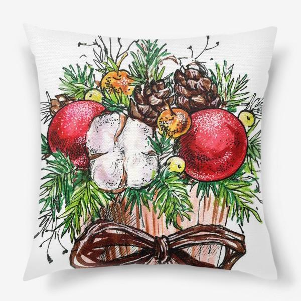Подушка «Новогодняя композиция»