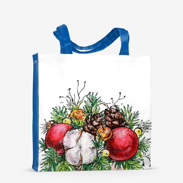 Сумка-шоппер «Новогодняя композиция»
