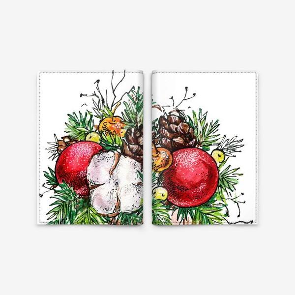 Обложка для паспорта «Новогодняя композиция»