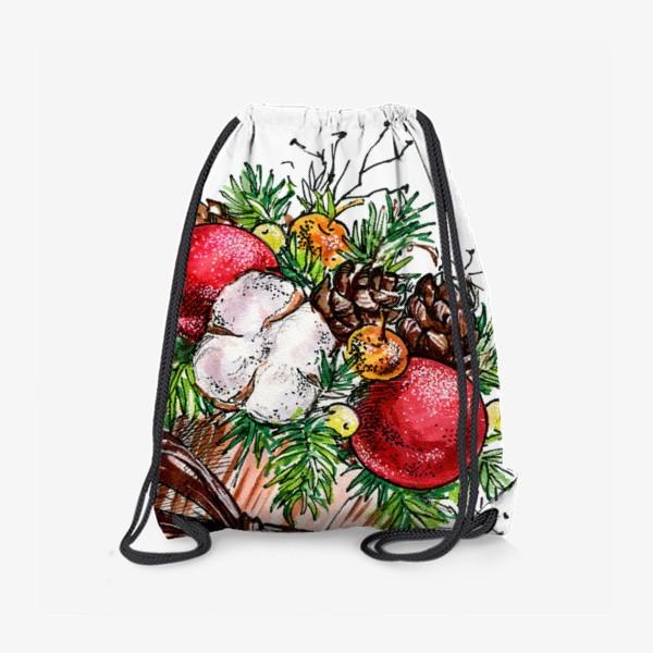Рюкзак «Новогодняя композиция»