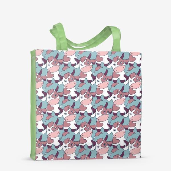 Сумка-шоппер «Коровы паттерн»