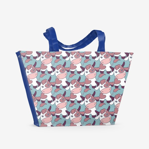 Пляжная сумка «Коровы паттерн»