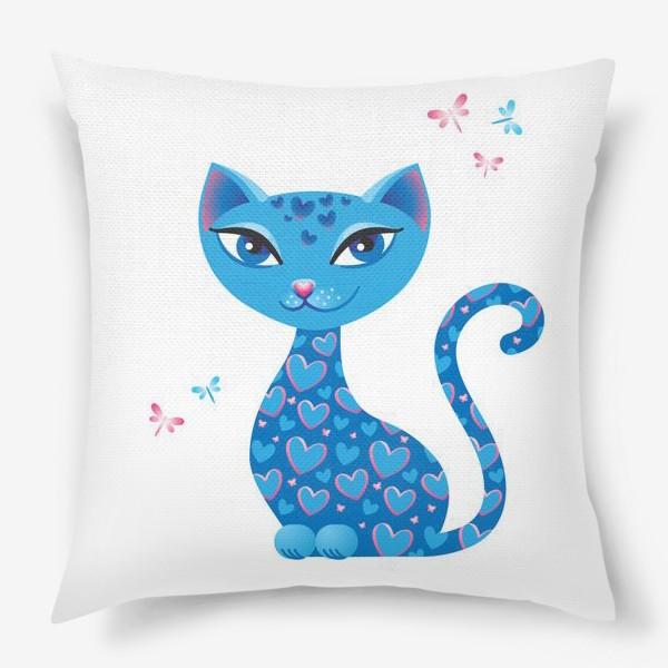 Подушка «Кошка, которая гуляет сама по себе. День»