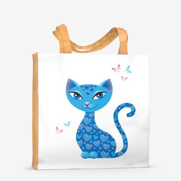 Сумка-шоппер «Кошка, которая гуляет сама по себе. День»