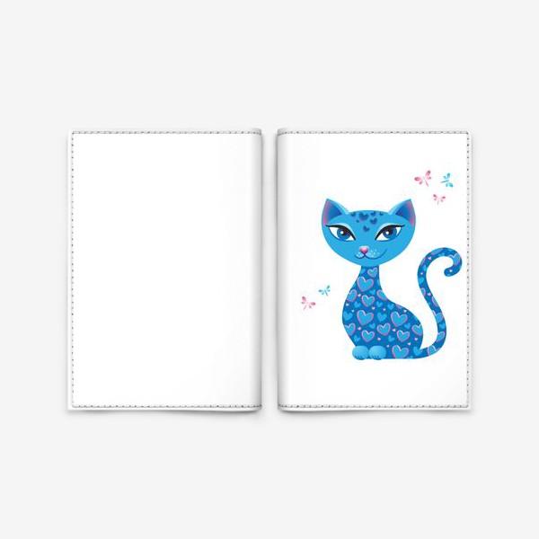 Обложка для паспорта «Кошка, которая гуляет сама по себе. День»