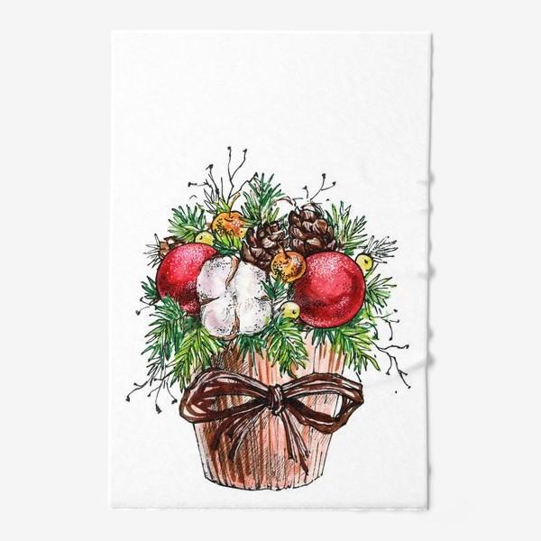 Полотенце «Новогодняя композиция»