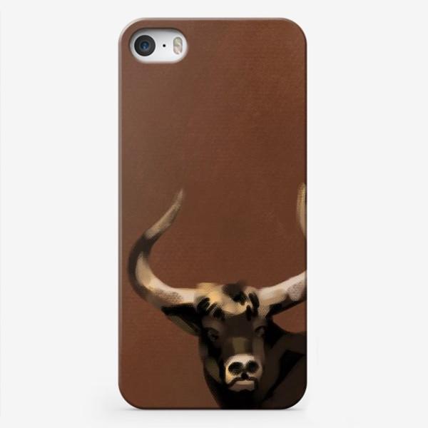 Чехол iPhone «Бык пастелью»