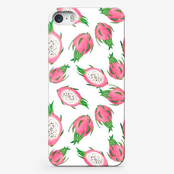 Чехол iPhone «Питахайя. Тропический паттерн»