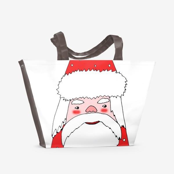 Пляжная сумка «Зимний гном»