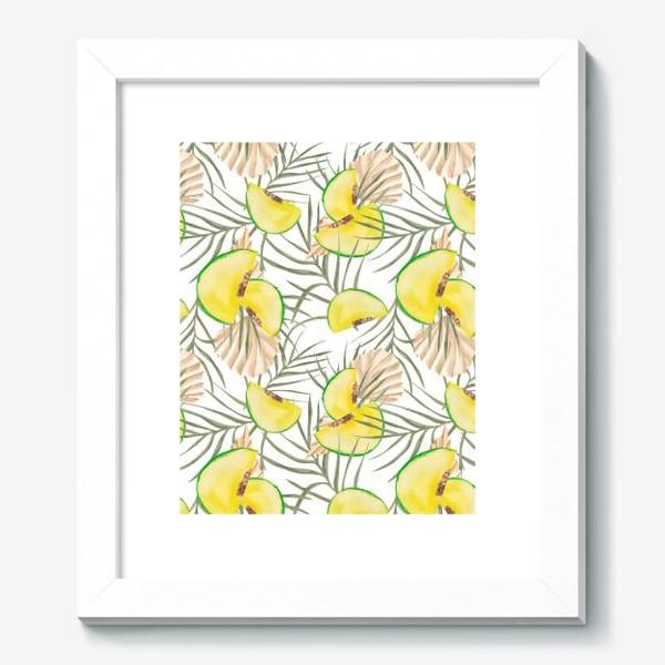 Картина «Дыня и листья. Тропический паттерн»