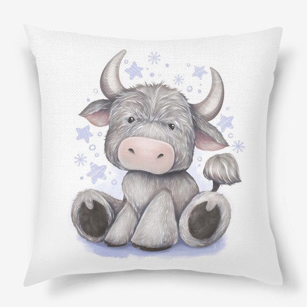 Подушка «Малыш бычок 2021 »