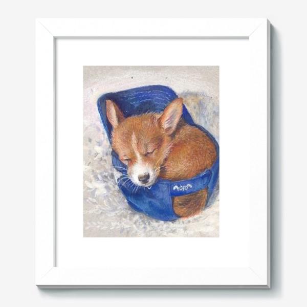 Картина «Малыш корги . щенок ,подарок»