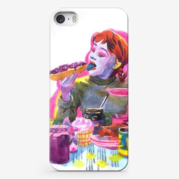 Чехол iPhone «Поп-арт, завтрак , еда ,кино»