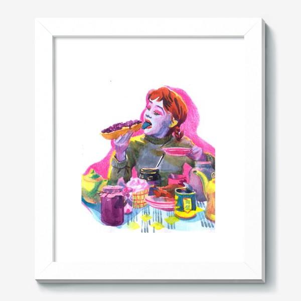 Картина «Поп-арт, завтрак , еда ,кино»