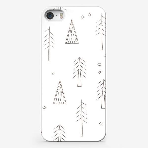 Чехол iPhone «ёлочки в лесу»