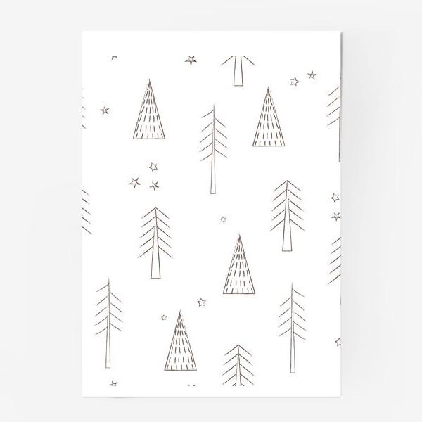 Постер «ёлочки в лесу»