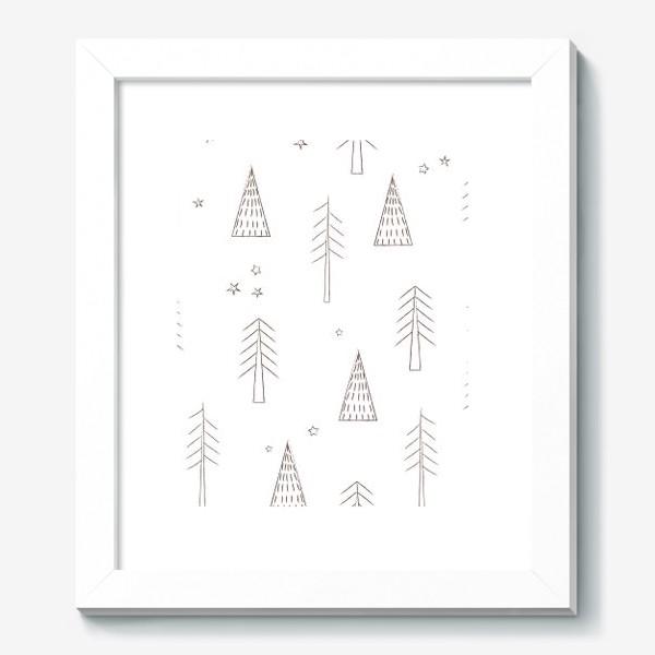 Картина «ёлочки в лесу»
