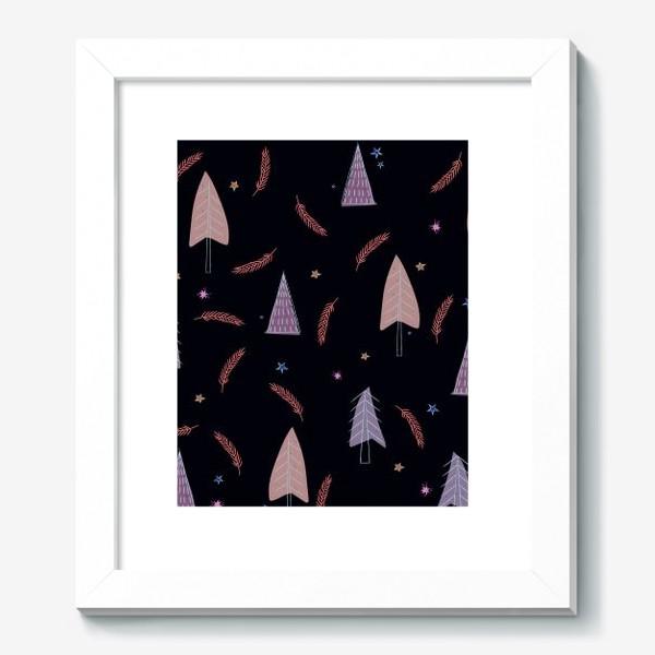Картина «новогодние ёлки»
