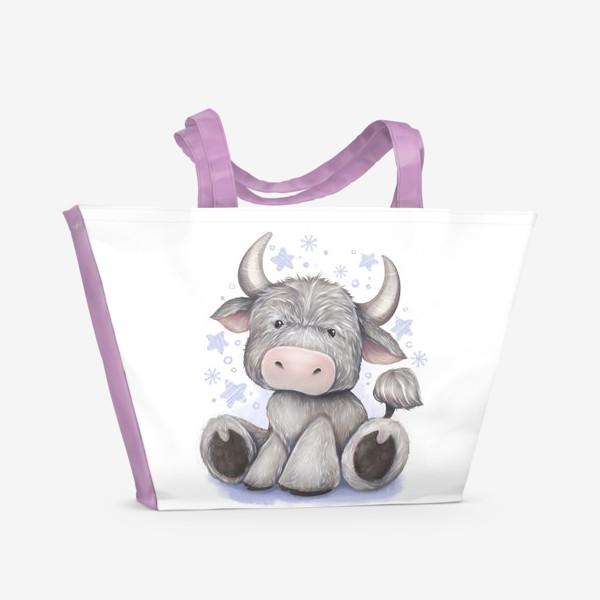 Пляжная сумка «Малыш бычок 2021 »