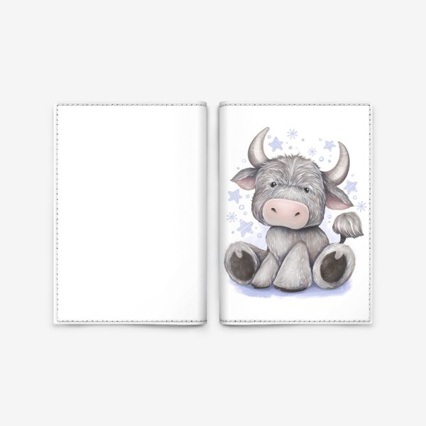Обложка для паспорта «Малыш бычок 2021 »