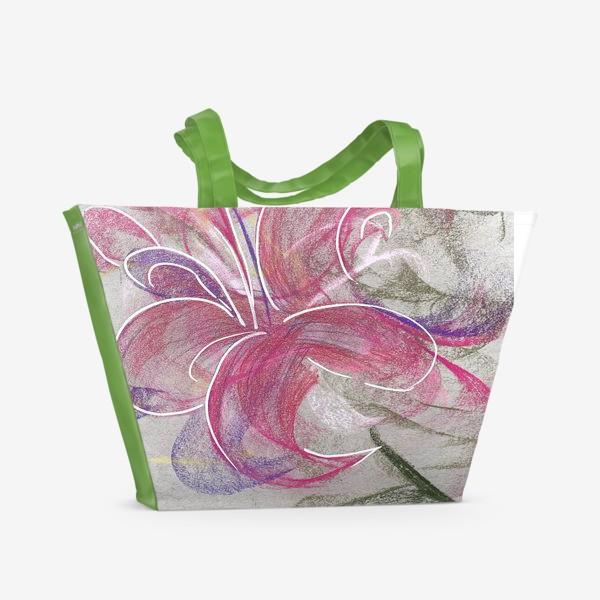 Пляжная сумка «Цветок с Бали»